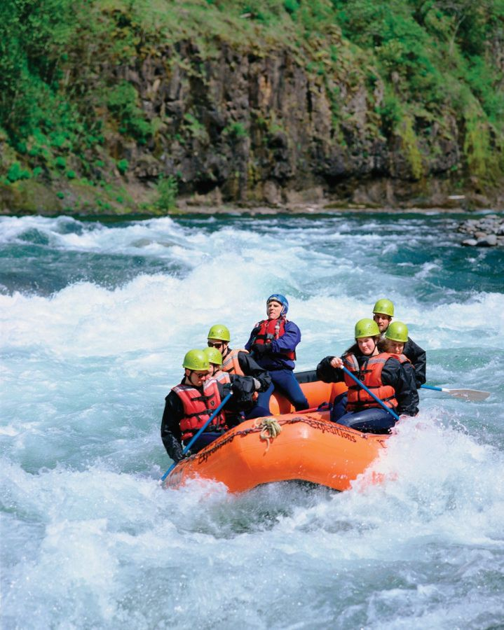 Whitewater rafting at Columbia River Gorge