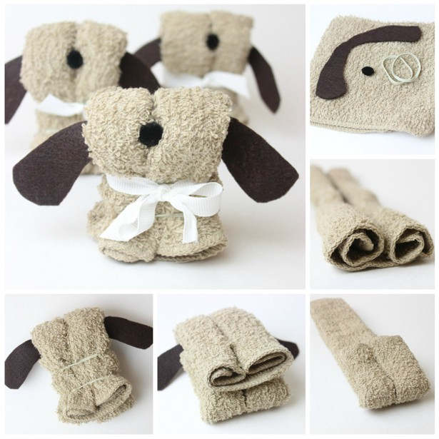 the little things origami puppy towels � amy poehlers