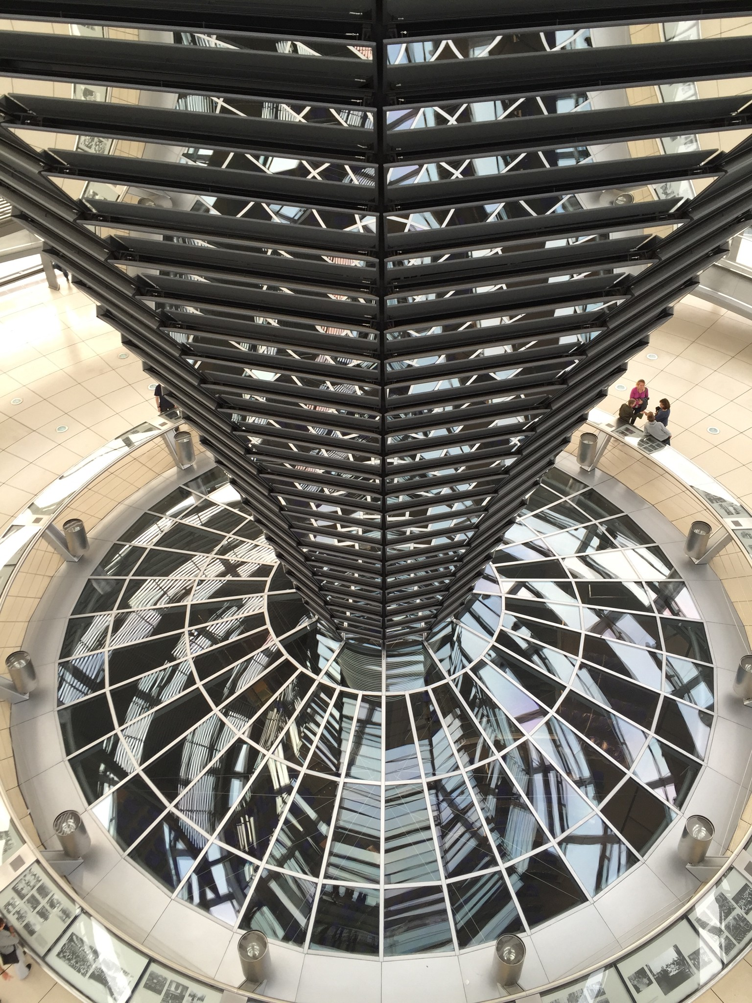 Looking down into the spiral