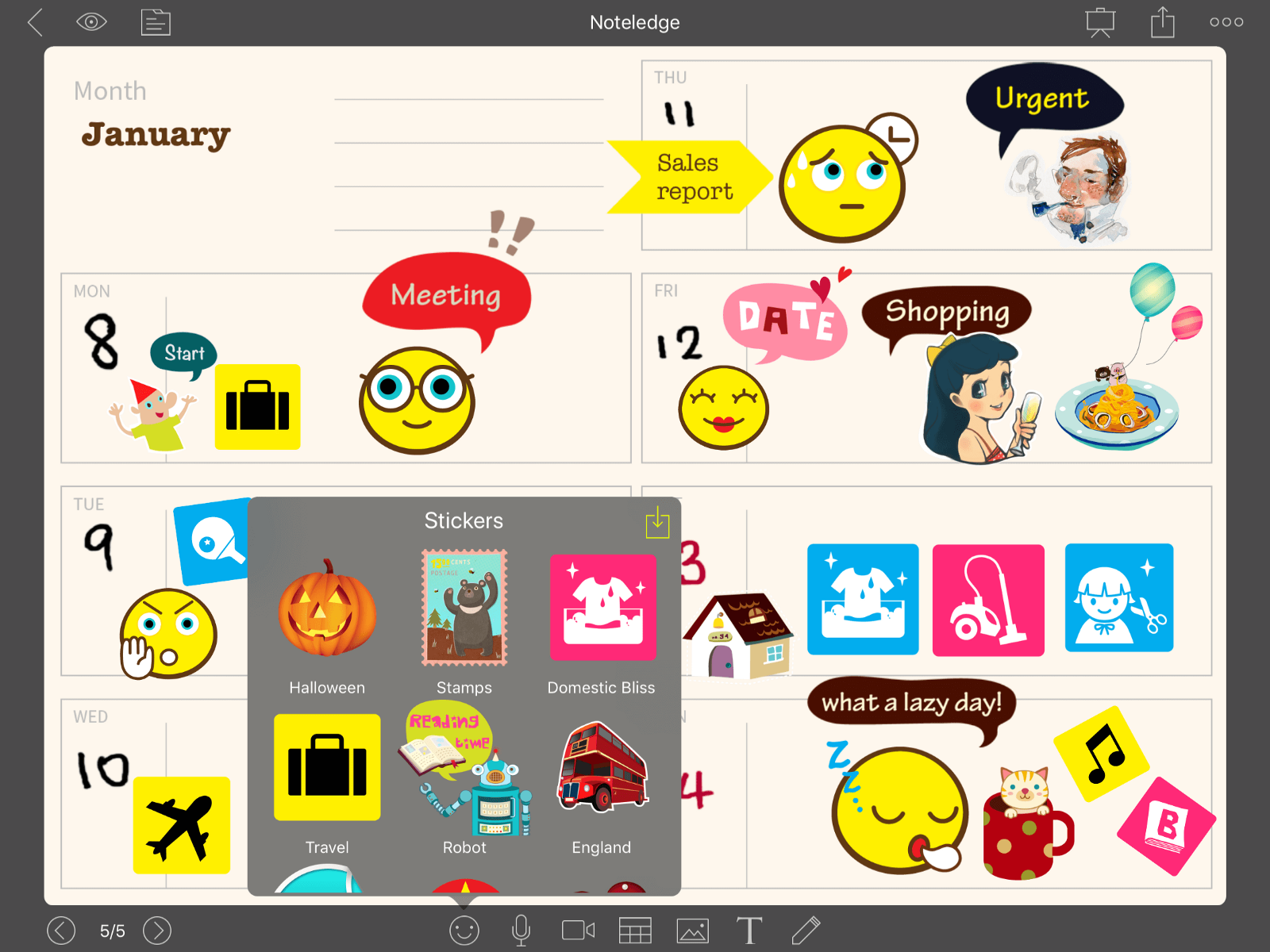 NoteLedge Sticker Planner