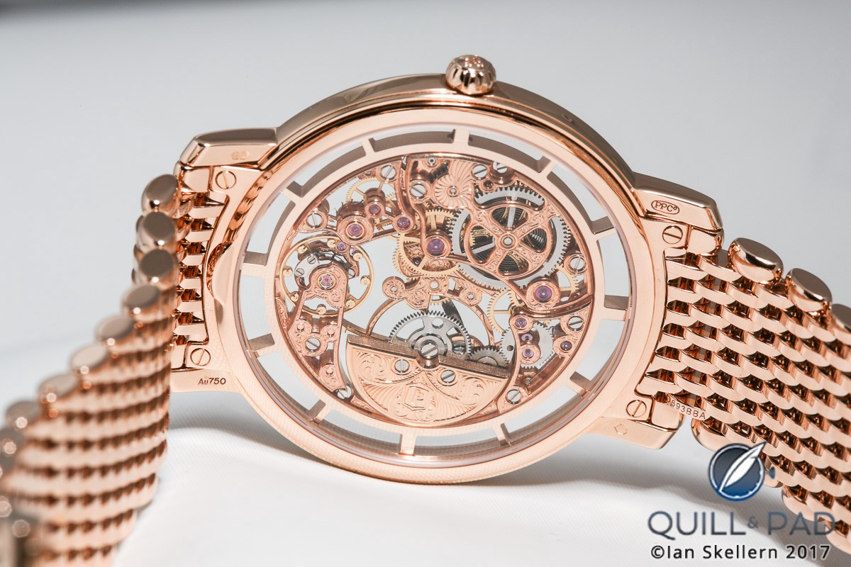 View from the back of the Patek Philippe Calatrava Squelette Reference 5180/1R-001