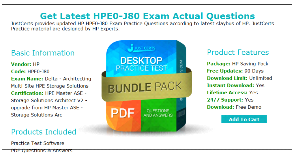 Hp Architecting Multi Site Hpe0 J80exam Real Questions And Answers