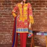 Khaadi embroidered cambric fall collection fashion 1