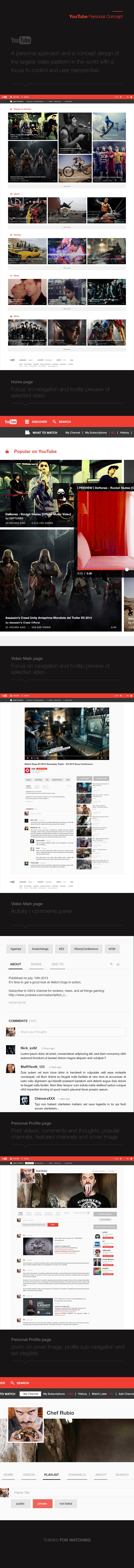 detailed look 55cf3 16abf YouTube Redesign Concept
