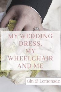 Blog post on wedding dress shopping as a disabled bride. #disability #wheelchairusers #weddingdresses #weddings