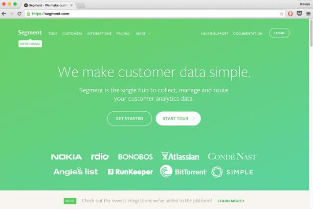 Segment makes it easy for anyone—engineer or not—to connect new software to your website