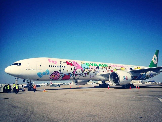 Eva Air's jet is the sixth Hello Kitty jet in the air.