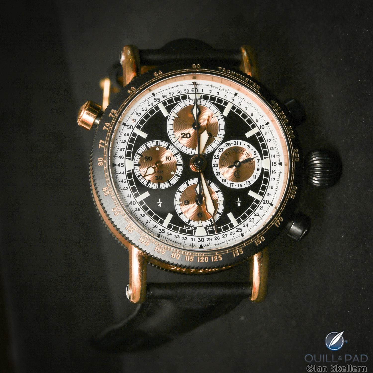 """An early """"Lang-system"""" Chronoswiss split-seconds chronograph from Gerd-Rüdiger Lang's extensive collection"""