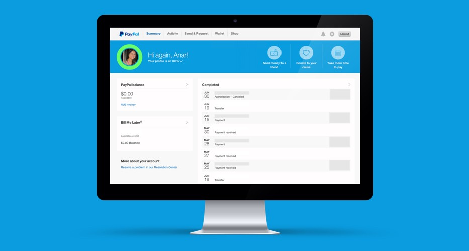 PayPal New Account UX Design