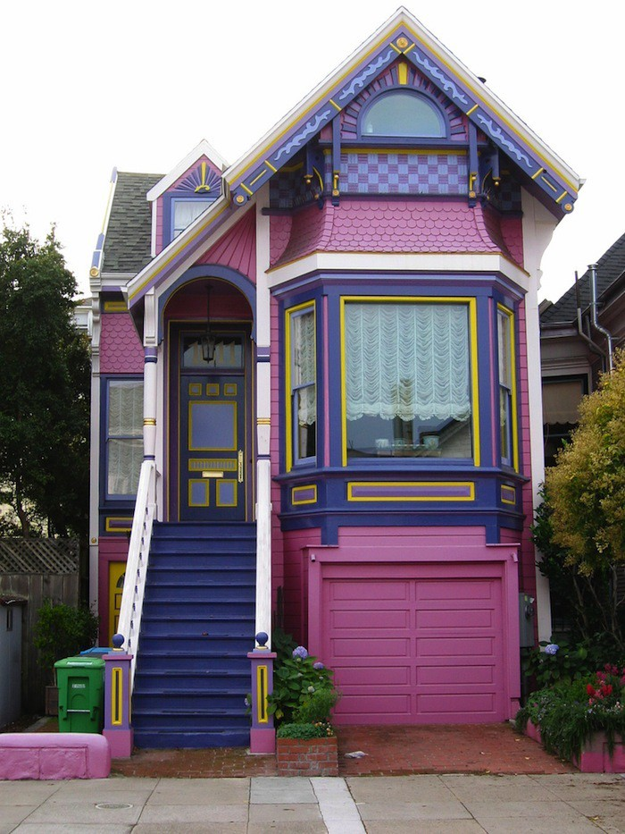 House paint jobs that would only fly in sf the bold Bold house colors