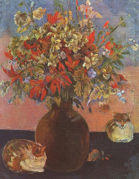 Paul Gauguin, Flowers and Cats