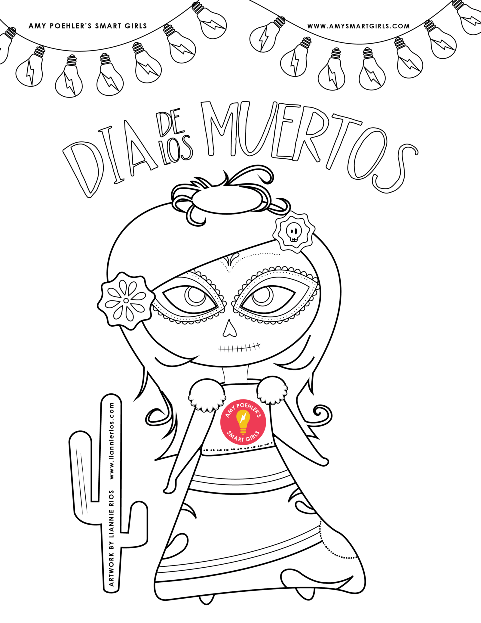 day of the dead coloring page u2013 amy poehler u0027s smart girls