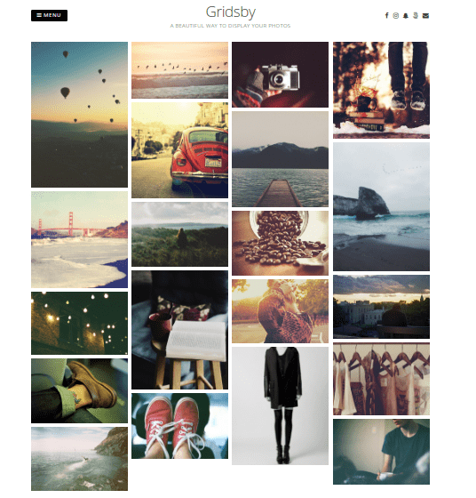 gridsby wordpress photograph theme