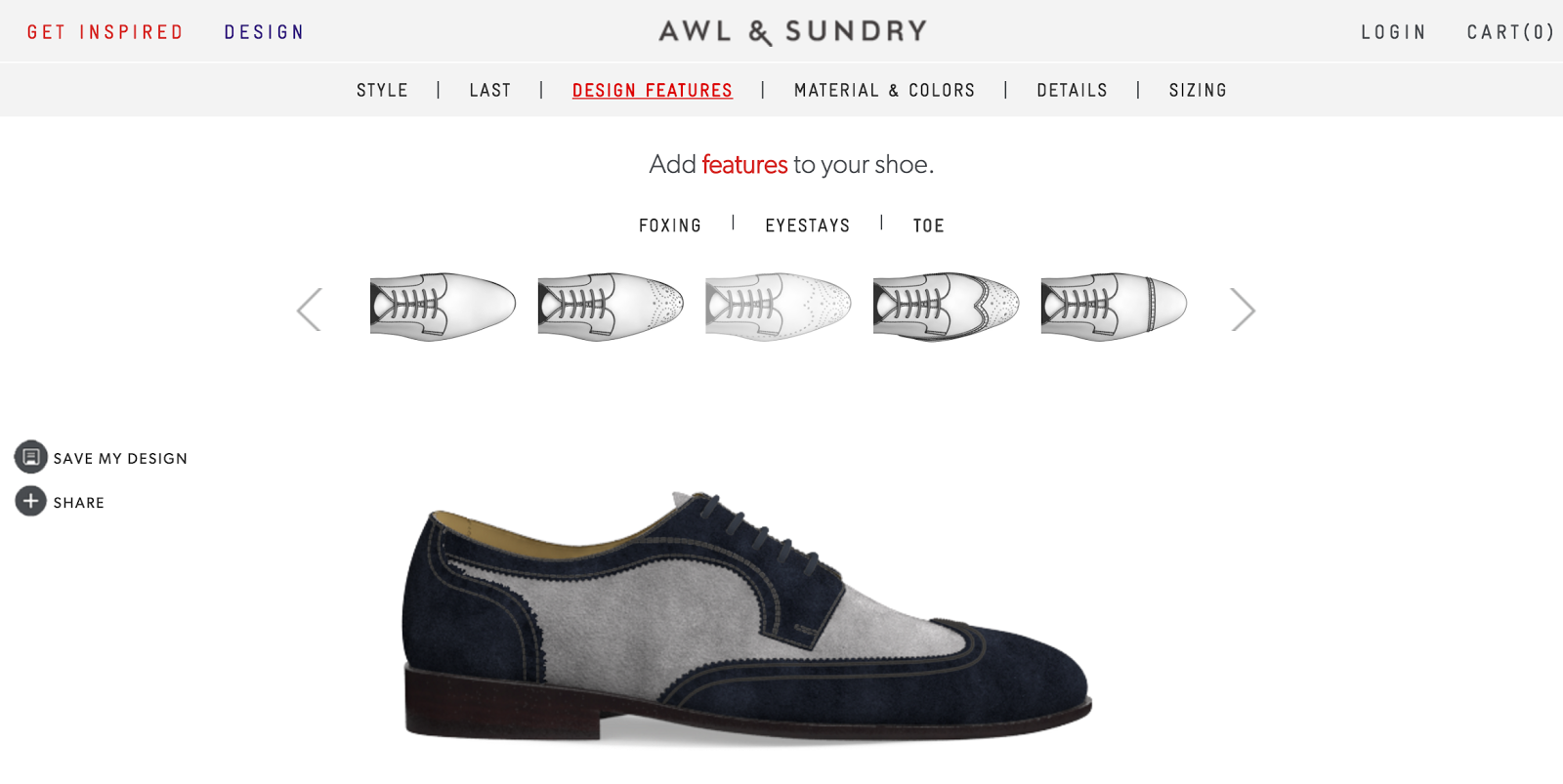The brand offers custom sizing, unlike Shoes of Prey, where a customer is  required to enter exact measurements of each foot for made-to-order shoes  by Awl ...