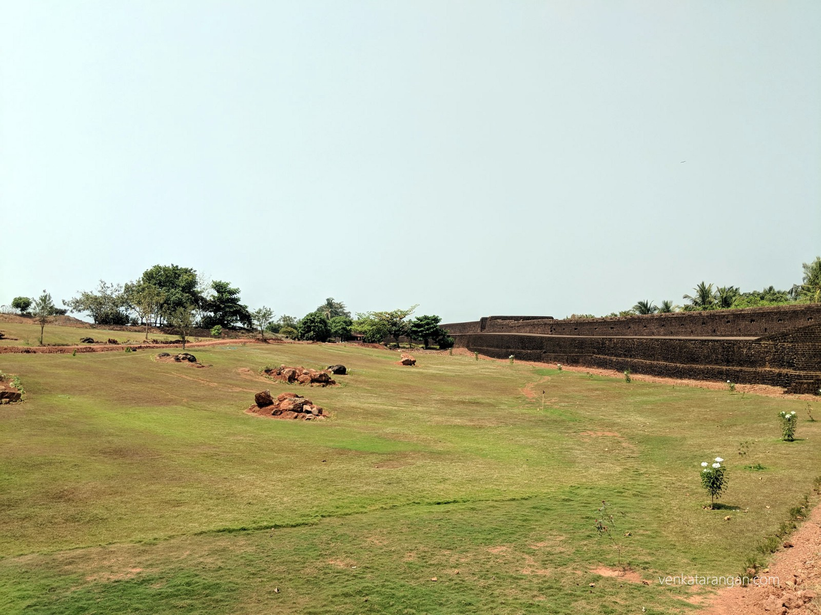 The Fort campus has been maintained well - greenery everywhere