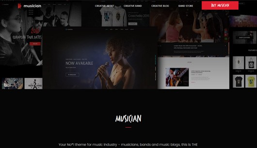 Best Music Templates And Themes In HTML Krissanawat - Dj website templates