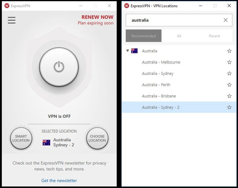 Thomas connects to a server in Australia