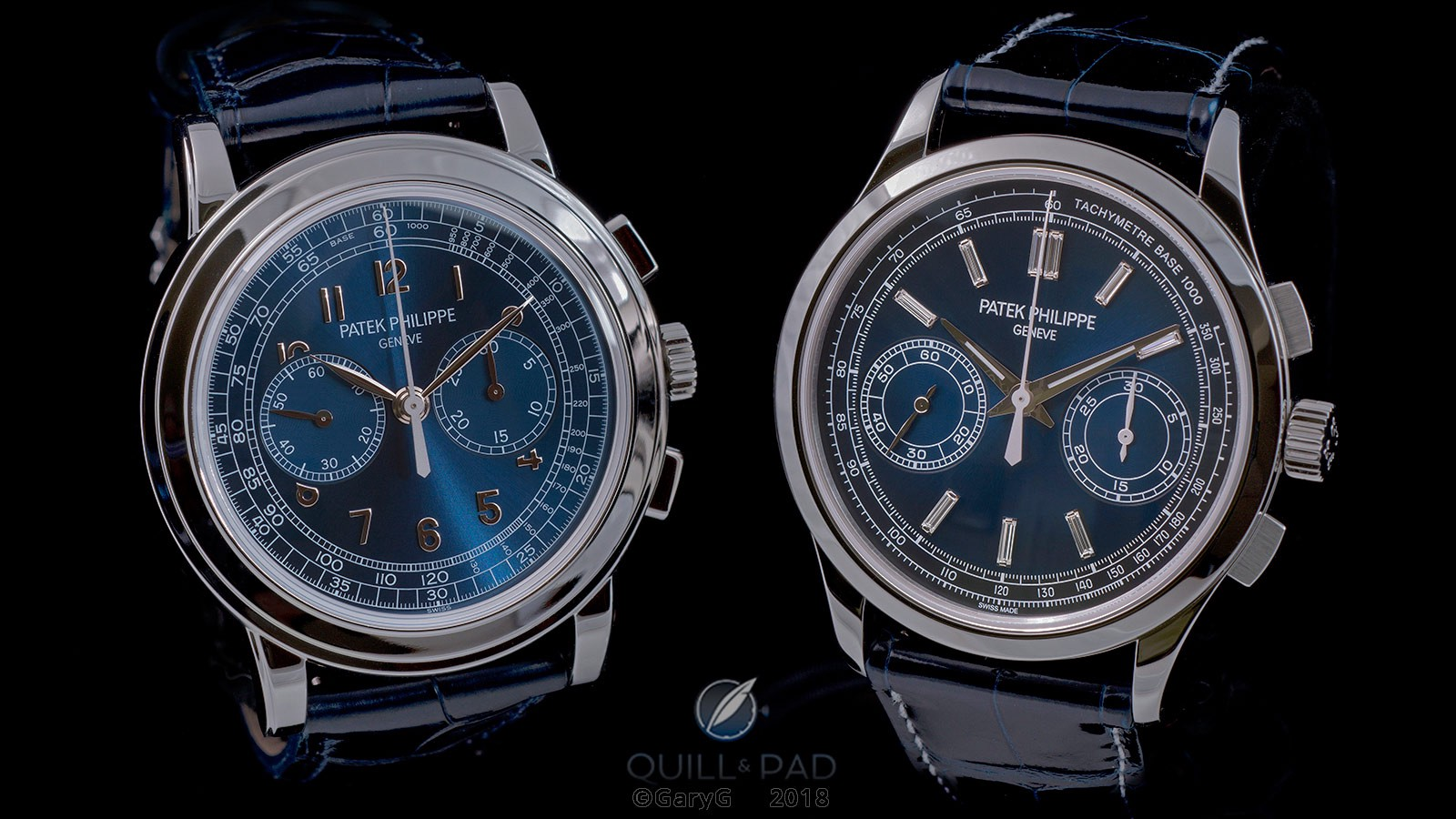 Big hitters: Patek Philippe Reference 5070P-013 (at left) and Reference 5170P