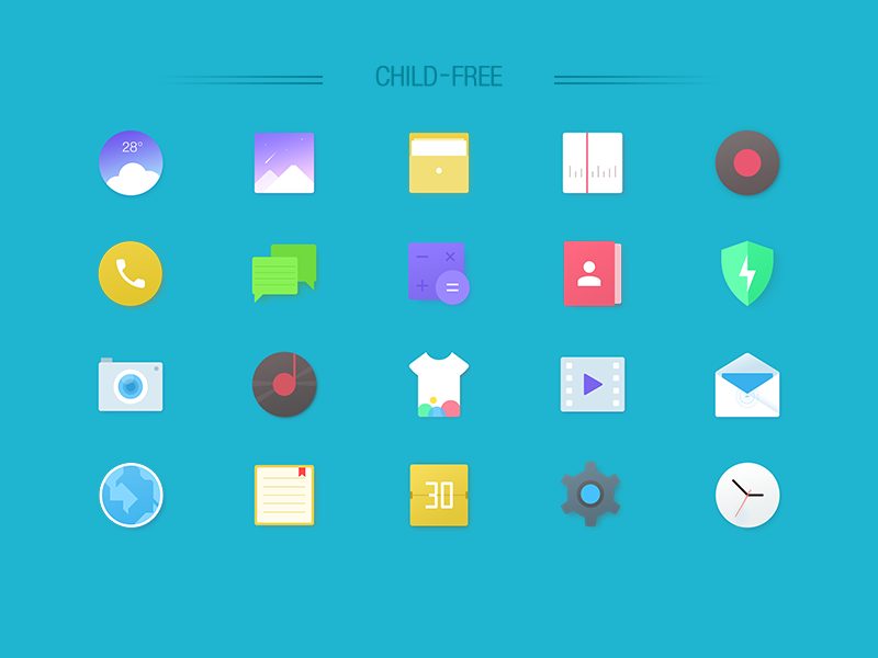 Basic Flat icons by Lone