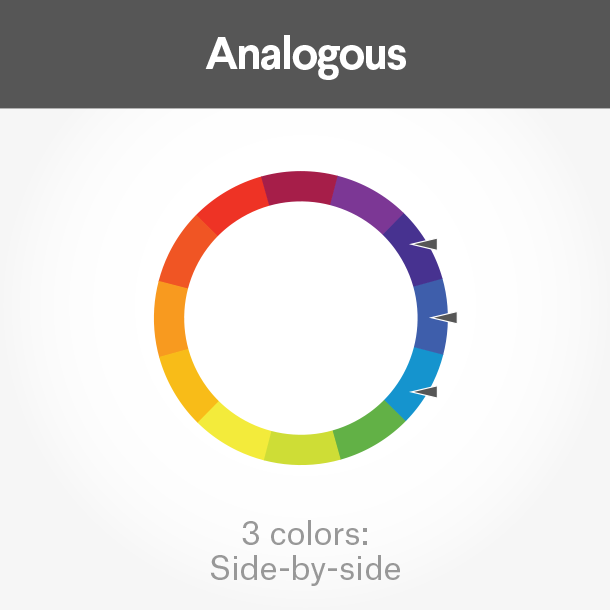 How to choose the perfect colors for your business card for instance is one formula while grouping them in an analogous scheme three colors resting side by side on the color wheel are reheart Image collections