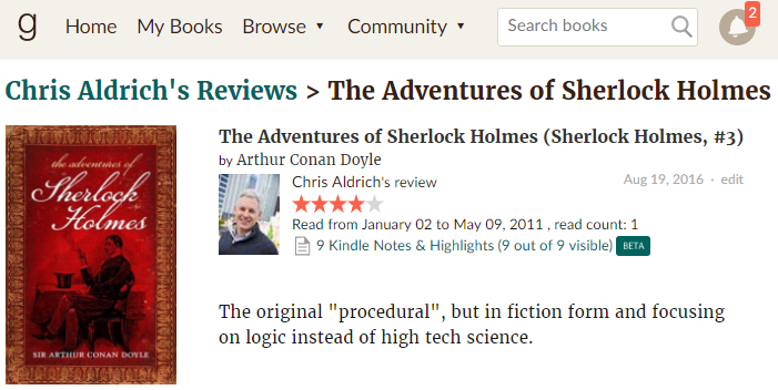 Kindle Notes and Highlights are now shoing up as a beta feature in GoodReads