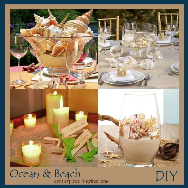 diy beach wedding theme centerpiece ideas storkie ideas