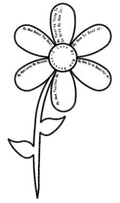 Mother's Day Flower Printable