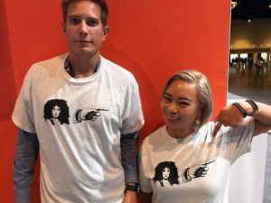 CherPoint t-shirts on Mike and Anna at MSIgnite
