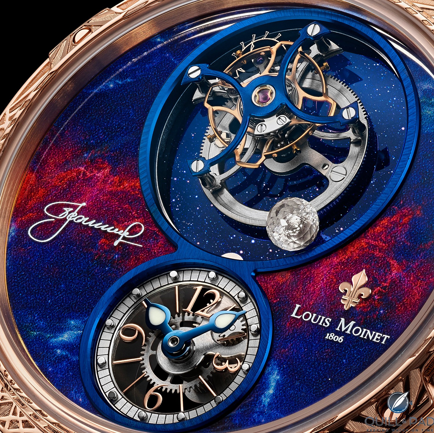 Simply sensational astronomically-themed dial of the Louis Moinet Spacewalker