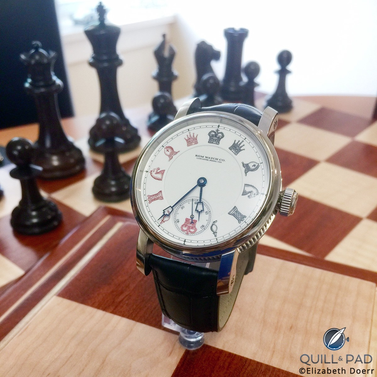 RGM Chess in Enamel with in-house caliber 801
