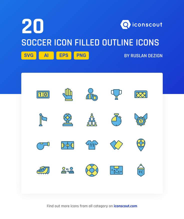 Soccer Icon Filled Outline icons by Ruslan Dezign