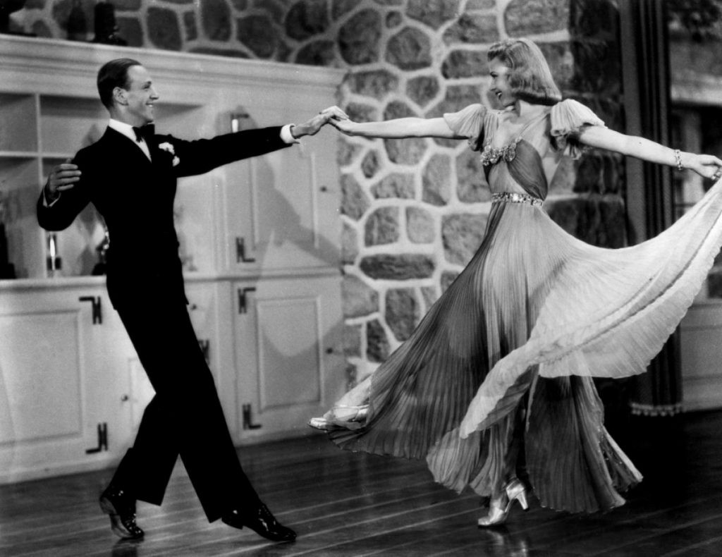 Fred Astaire and Ginger Rogers, in Flying Down to Rio