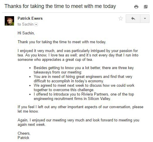 How To Write A Great Follow Up Email After A Meeting