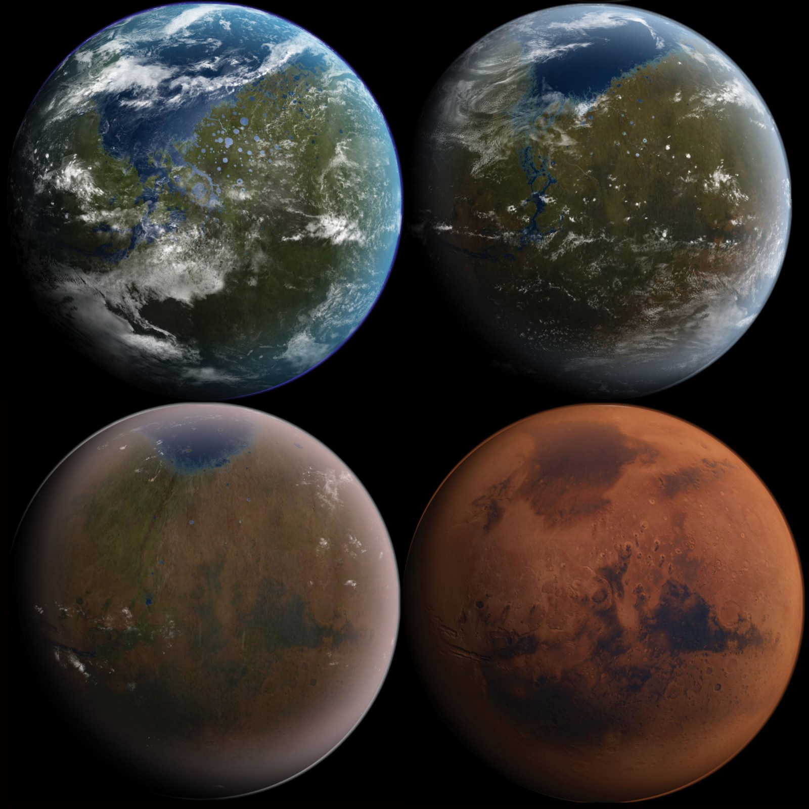 Another Blue Marble: What Mars Looked Like When It Had Water