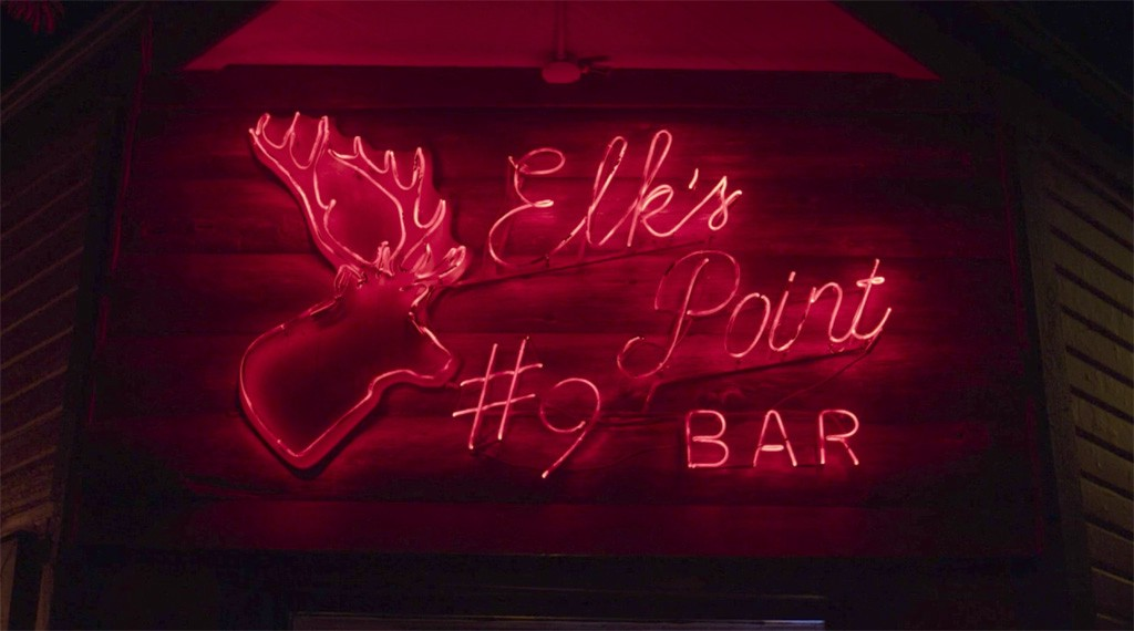 Elk's Point #9 Bar exterior neon signage