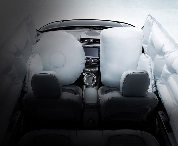 The many airbags of the Kia Soul