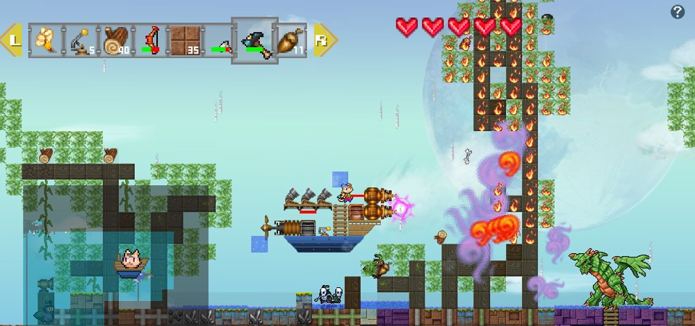 wondership q combines the best of minecraft and platformers