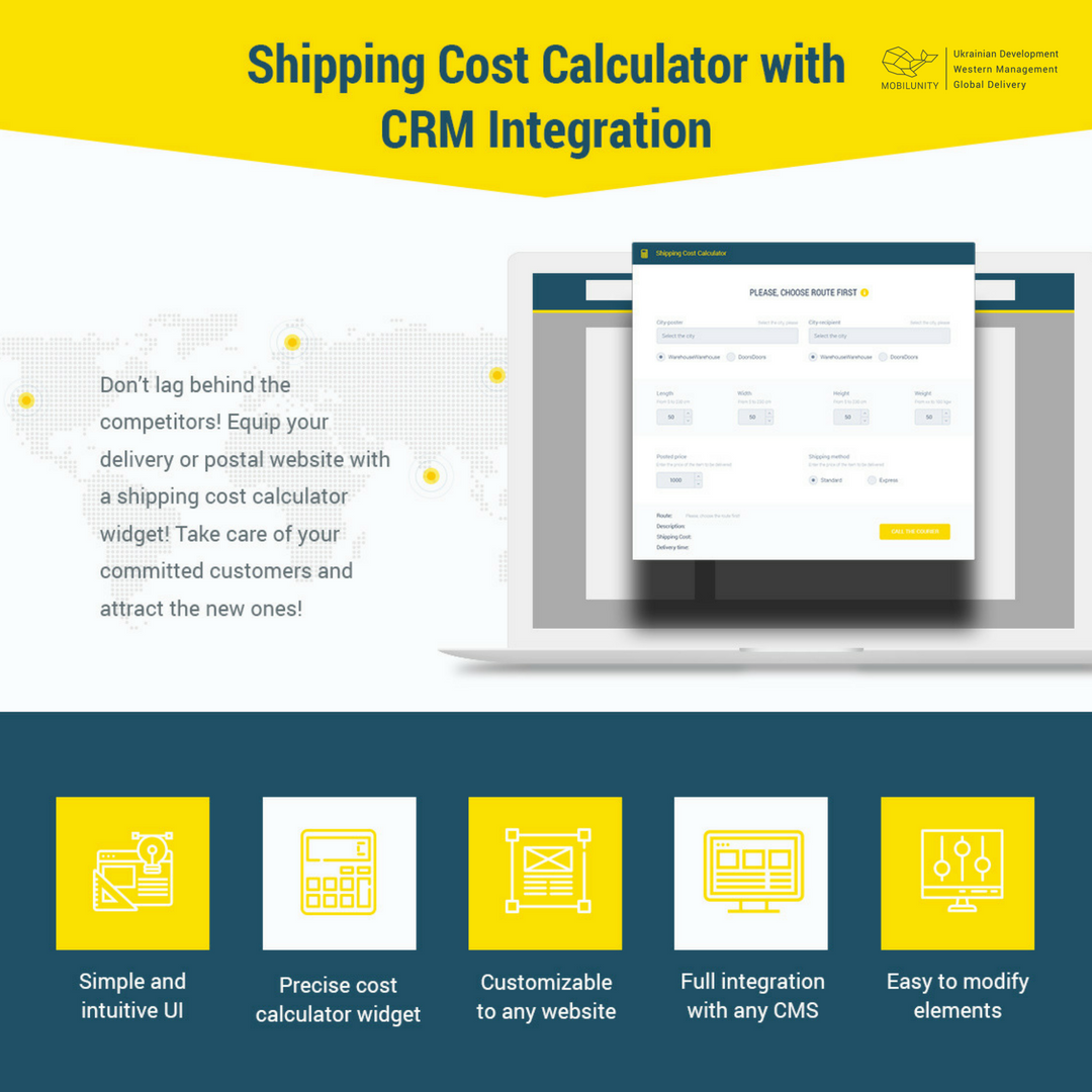 Here Is Postal Shipping Calculator Widget Design Which May Be Built Into A Website For Delivery Services Offices Logistics Companies And