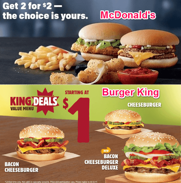 burger king pricing strategy