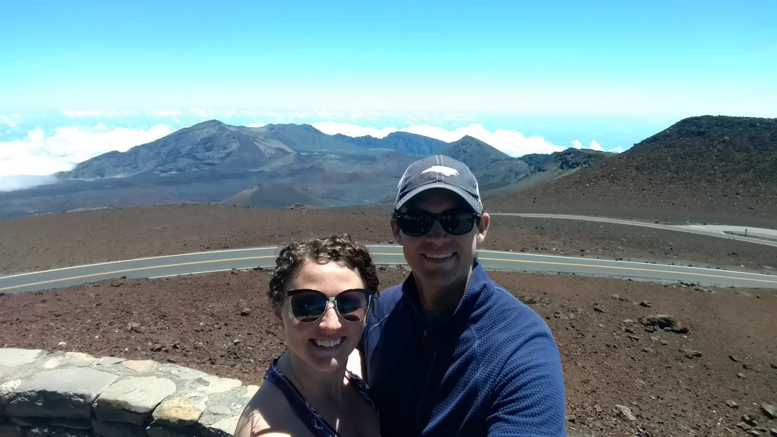 Austin and I on our most recent trip to Maui at Haleakala Crater.
