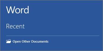 A list of the most recently used documents is shown. - www.office.com/setup