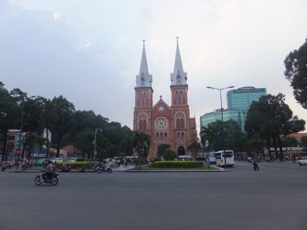Saigon Notre Dame Cathedral Photo by Sally Lucas from Our 3 Kids V The World