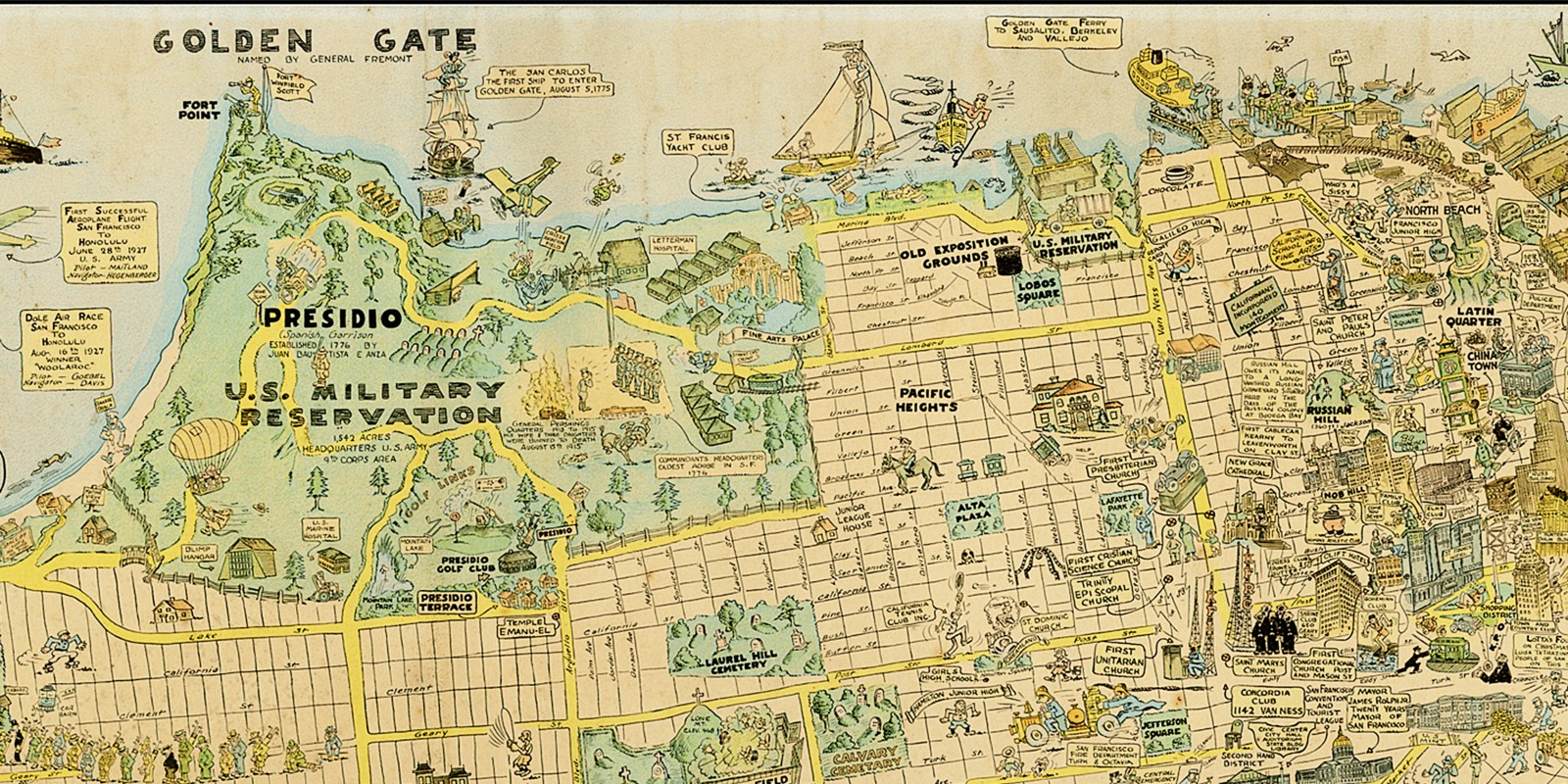 1927 Cartoon Map of SF is Awesome and Adorable — The Bold Italic