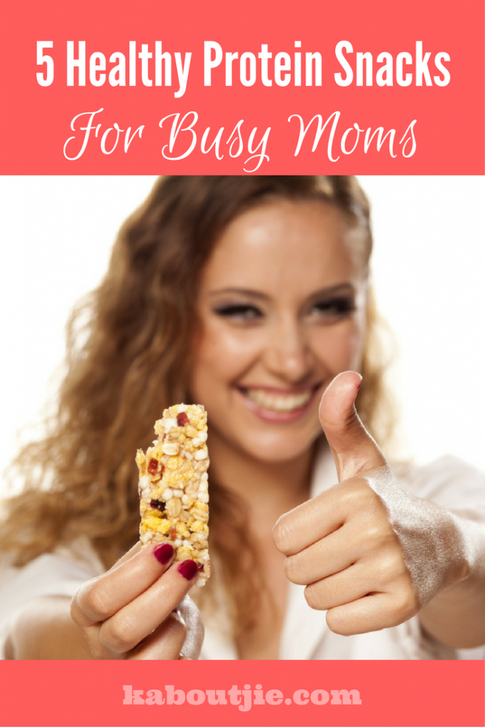 5 Healthy protein snacks busy moms pin