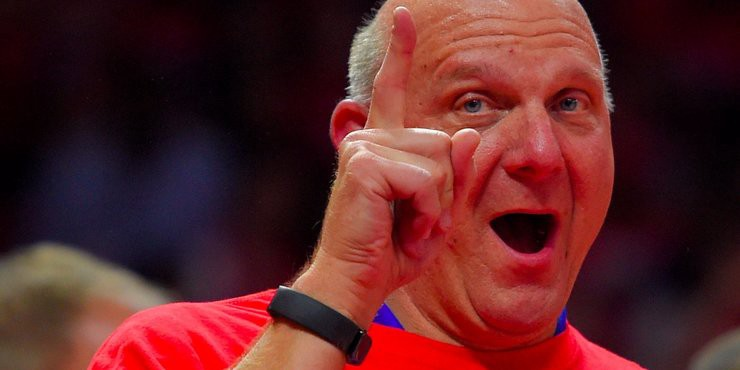 Steve ballmer on the clippers second fiddle status in la lets face it weve been kicking the lakers a