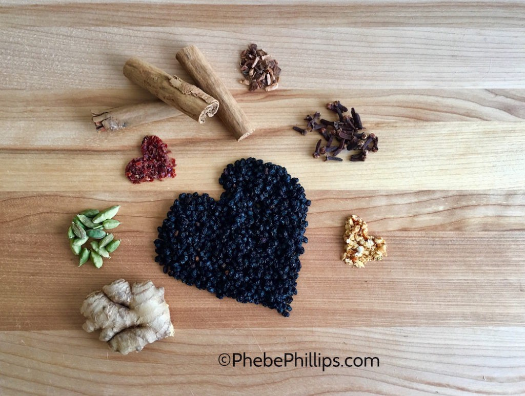 Dried Elderberry Heart