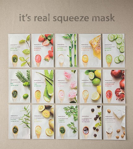 6 Most Popular Brands of Korean Beauty Products You Should Be Using - Innisfree It's Real Squeeze Mask