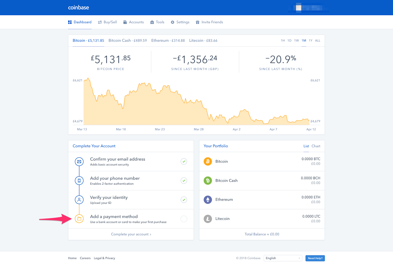 coinbase security settings
