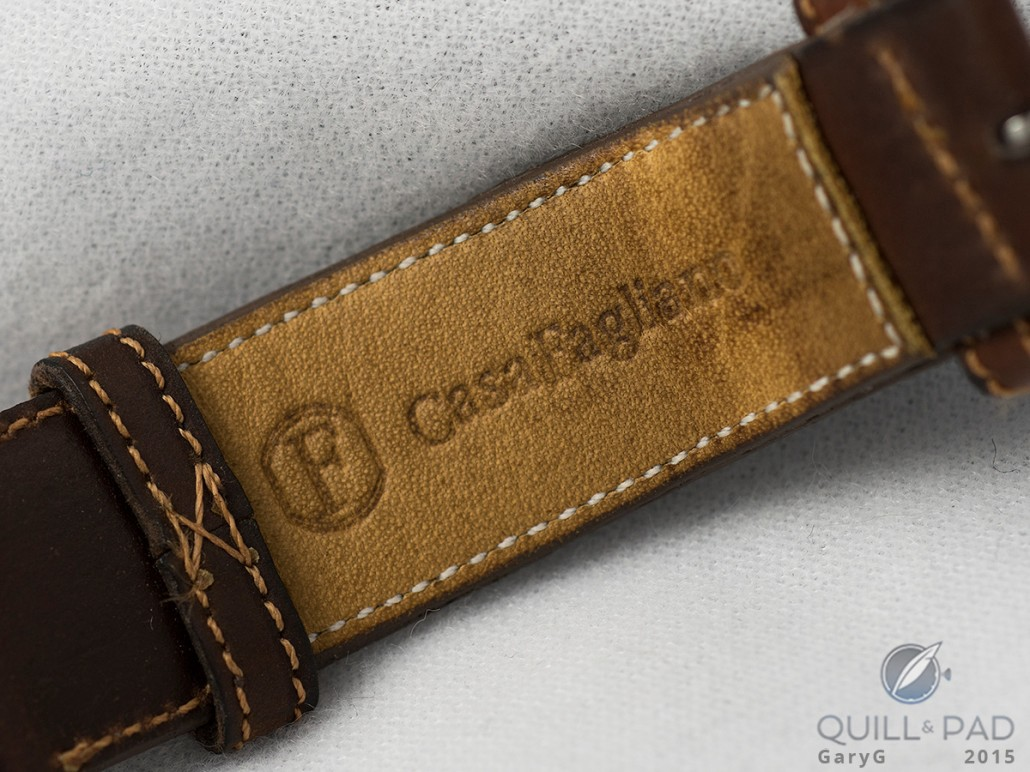 Casa Fagliano strap on the Jaeger-LeCoultre Tribute to Reverso U.S. limited production version