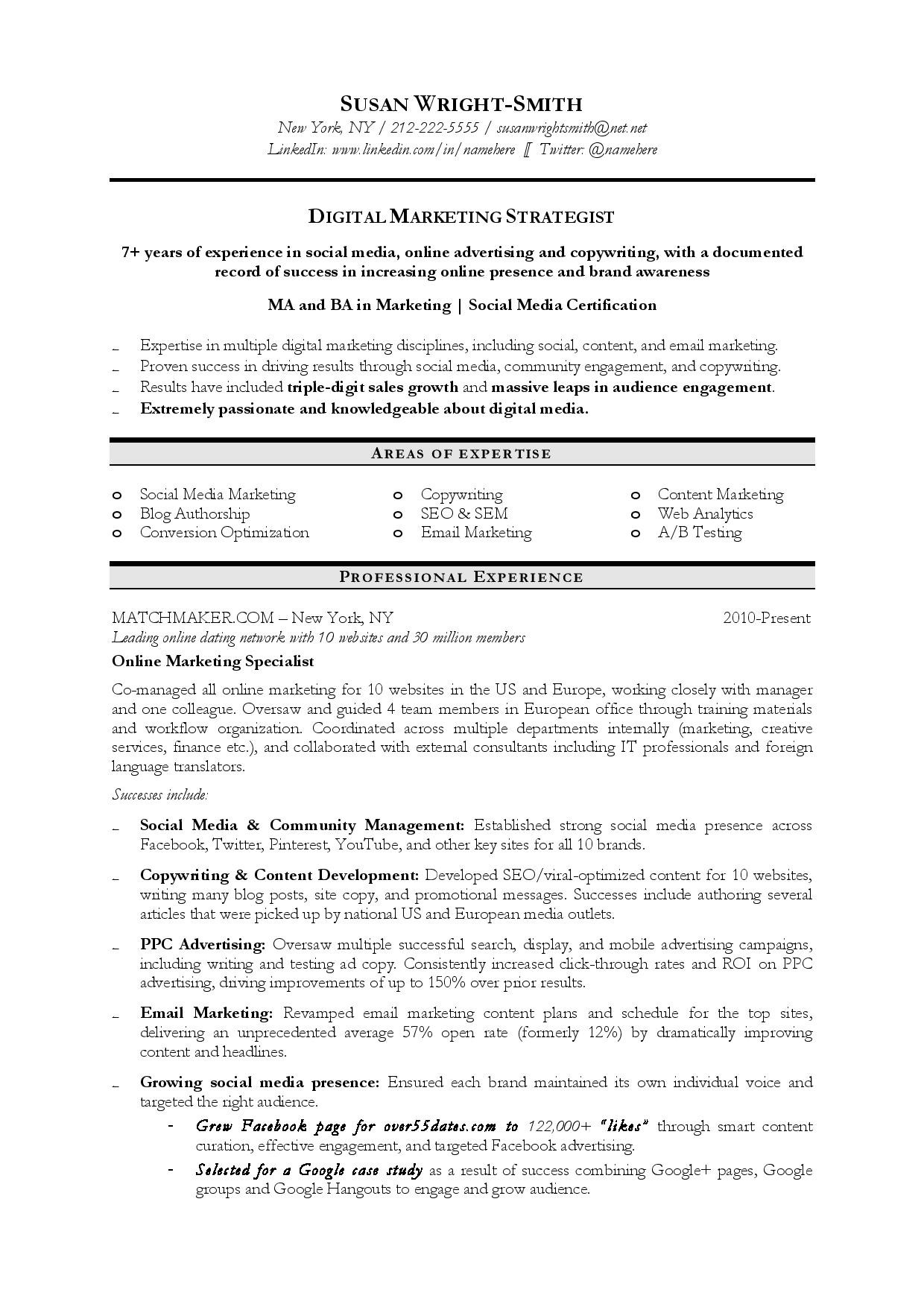10 Marketing Resume Samples Hiring